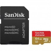 SanDisk Extreme MicroSD 64Gb 100mb/s for 4K+adapt купить