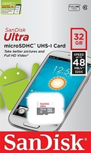 SanDisk microSDHC 32Gb UHS-I Ultra Class10 (48MB)