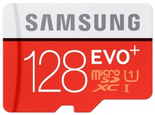 SAMSUNG EVO Plus Micro 128Gb +адап (100/90 mb/s)